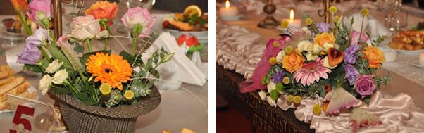Decoratiuni florale in palarie nunta Andrea si Mihai