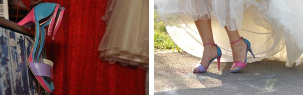Pantofi mireasa colorati nunta Oradea Andrea si Mihai